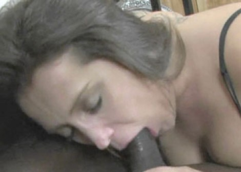 Bridgette swallows some black dick